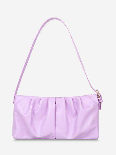 Minimalist Ruched Soft Shoulder Bag - Lilac