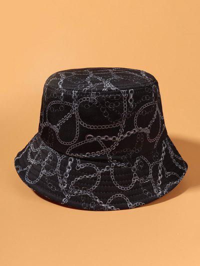 Casual Chain Print Outdoor Bucket Hat - Dark Slate Blue