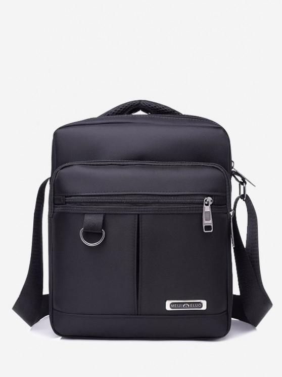 Multi-function Square Shoulder Bag - أسود