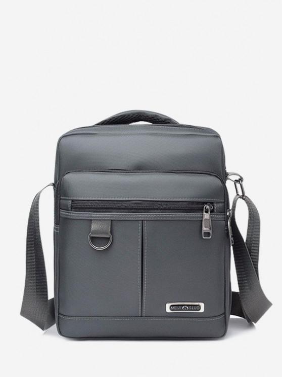 ladies Multi-function Square Shoulder Bag - GRAY CLOUD