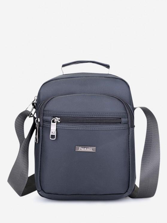 online Letter Label Square Leisure Shoulder Bag - GRAY GOOSE