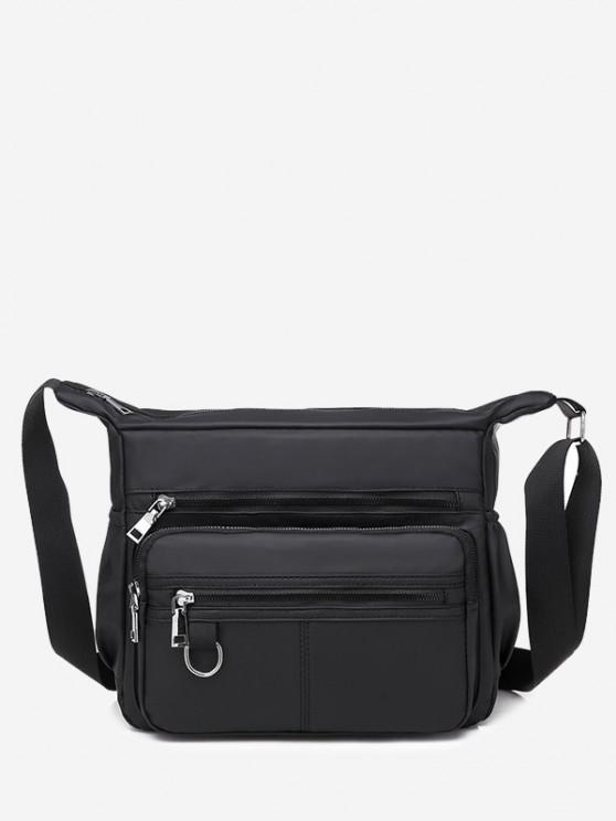 shops Waterproof Business Trip Shoulder Bag - BLACK