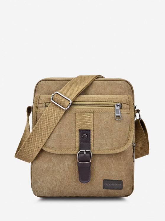 sale Wear-resistant Canvas Messenger Bag - LIGHT KHAKI