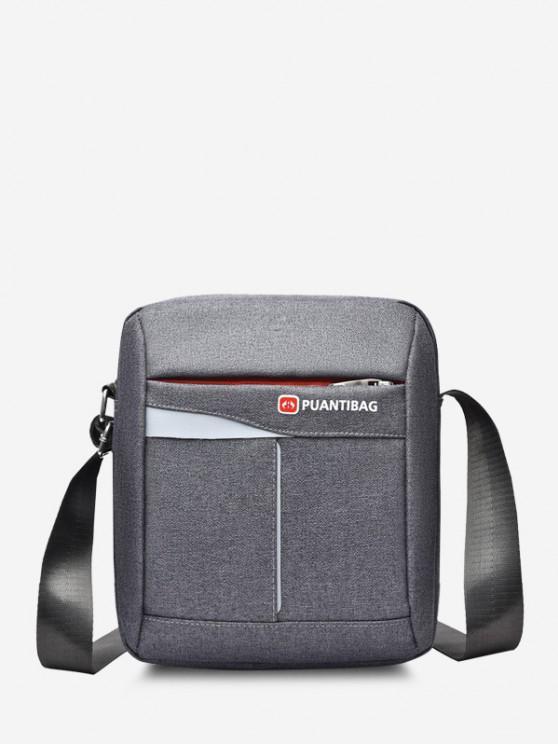 buy Letter Pattern Square Shoulder Bag - GRAY GOOSE