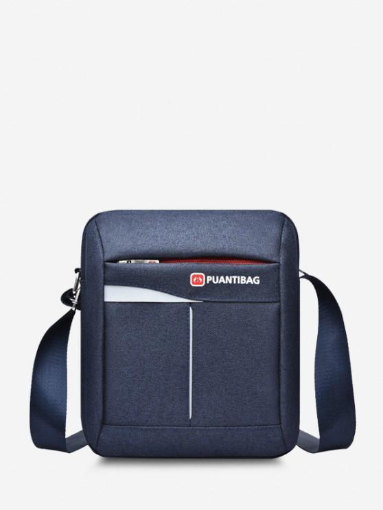womens Letter Pattern Square Shoulder Bag - CADETBLUE