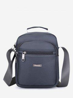 Letter Label Square Leisure Shoulder Bag - Gray Goose