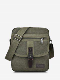 Wear-resistant Canvas Messenger Bag - Shamrock Green