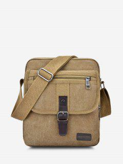 Wear-resistant Canvas Messenger Bag - Light Khaki