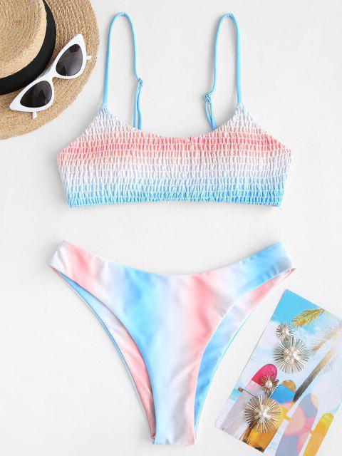 ZAFUL Ombre Kittel Bralette Bikini Badebekleidung - Hellblau S Mobile