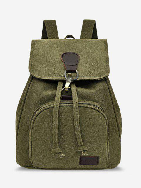 online Canvas Drawstring Large Capacity Casual Backpack - SALAD GREEN  Mobile