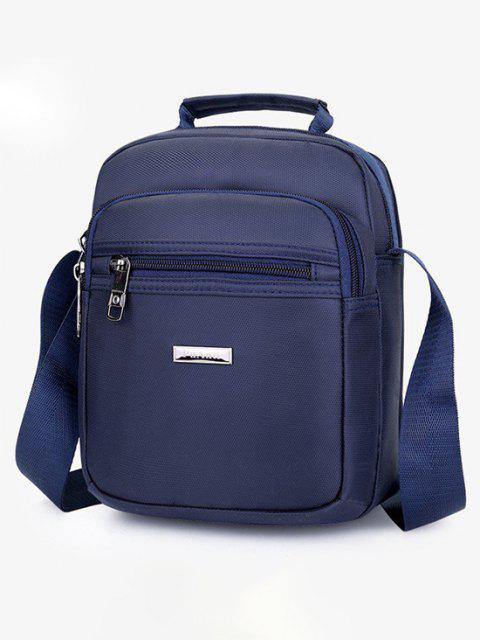 new Letter Label Square Leisure Shoulder Bag - CADETBLUE  Mobile