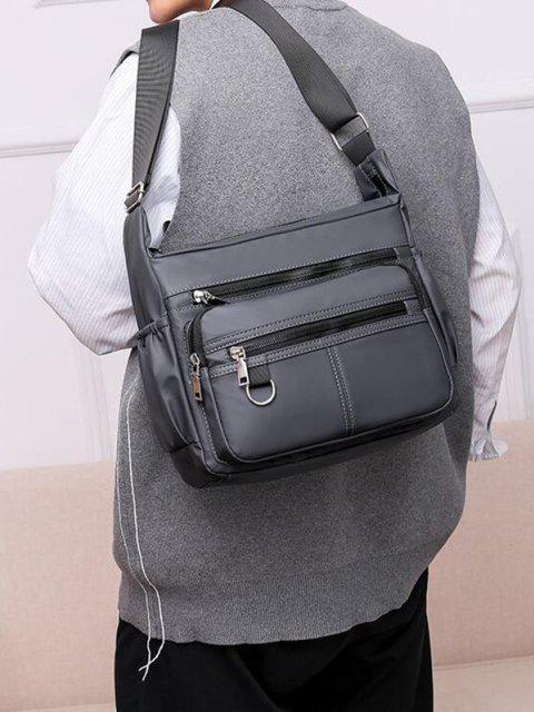 latest Waterproof Business Trip Shoulder Bag - GRAY GOOSE  Mobile