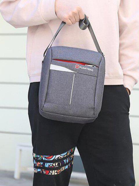 buy Letter Pattern Square Shoulder Bag - GRAY GOOSE  Mobile