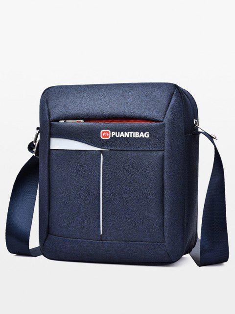 womens Letter Pattern Square Shoulder Bag - CADETBLUE  Mobile