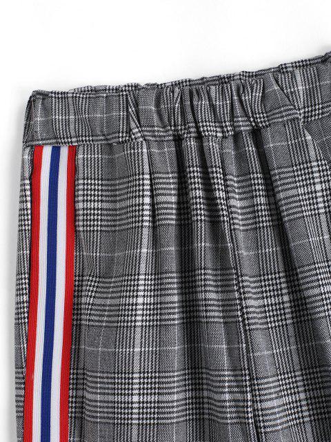shop Glen Check Stripe Contrast Pants - MULTI-A S Mobile