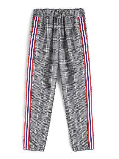 Pantalon Contrasté Rayé à Carreaux - Multi-a S