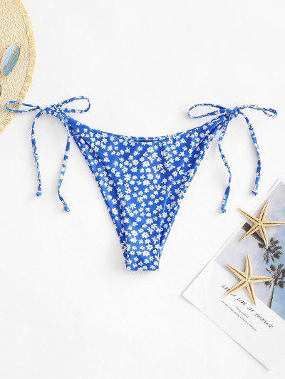 ZAFUL Bikiniunterteil Mit Ditsydruck Und Seitlicher Paillettenbindung - Tiefes Blau M