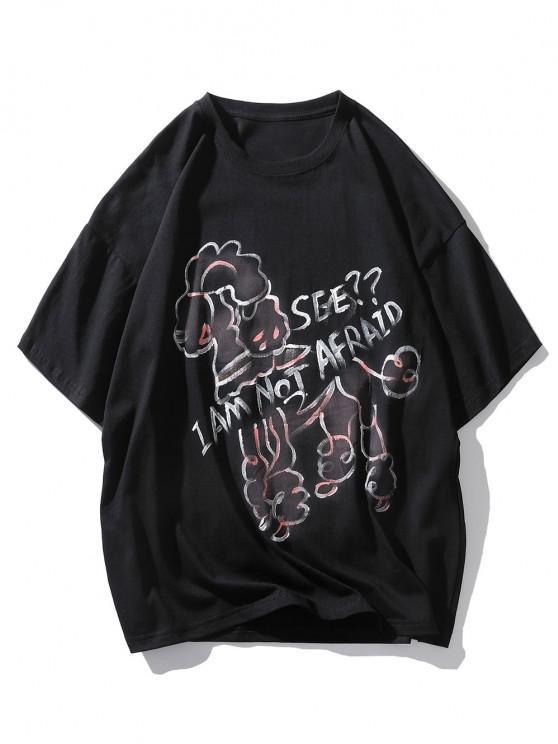 Ich Liebe Dich Am Meisten Kopfzähne U Ausschnitt T-Shirt - Schwarz M