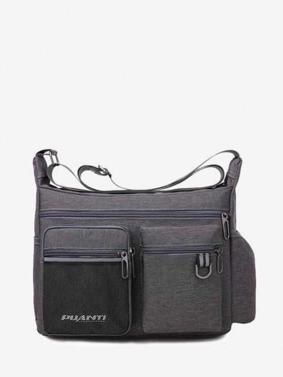 online Pockets Waterproof Travel Shoulder Bag - GRAY GOOSE