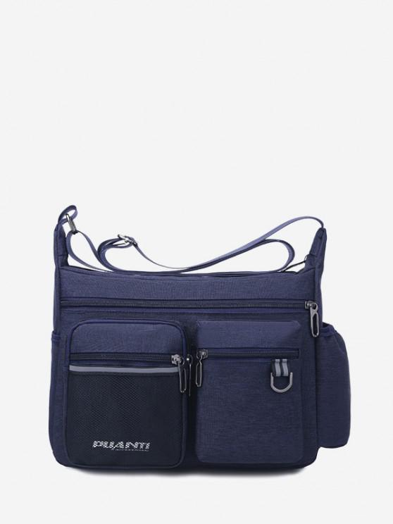 new Pockets Waterproof Travel Shoulder Bag - DEEP BLUE