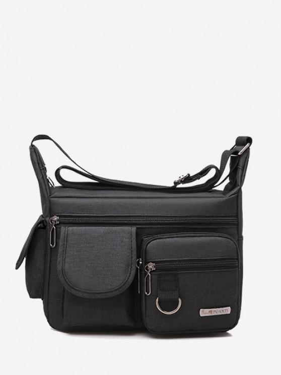 Outdoor Business Pockets Shoulder Bag - أسود