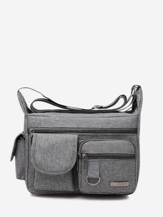 outfit Outdoor Business Pockets Shoulder Bag - GRAY GOOSE