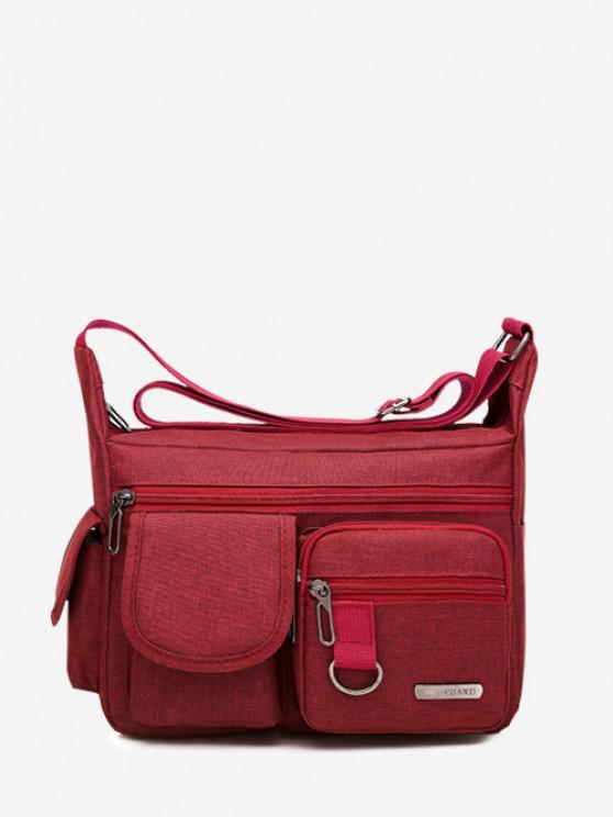 shop Outdoor Business Pockets Shoulder Bag - RED