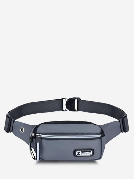Waterproof Sports Chest Waist Bag - اللون الرمادي