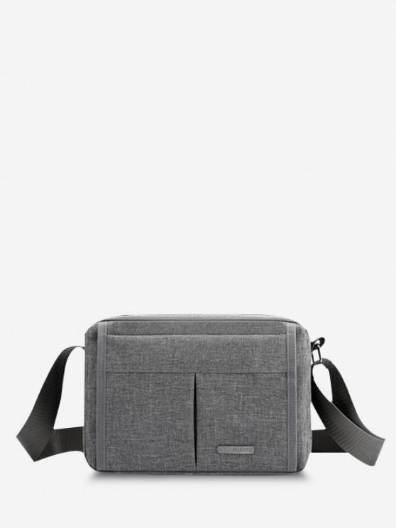 womens Brief Waterproof Shoulder Bag - GRAY CLOUD
