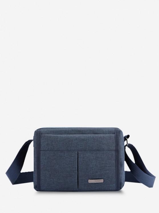 Brief Waterproof Shoulder Bag - ازرق غامق