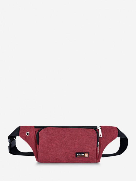 fancy Sports Mobile Phone Chest Waist Bag - RED