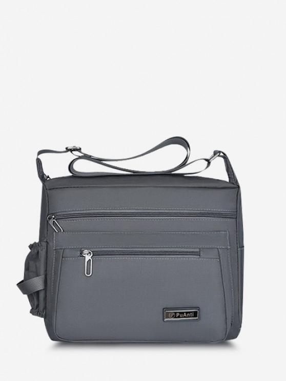buy Business Outdoor Rectangle Shoulder Bag - GRAY