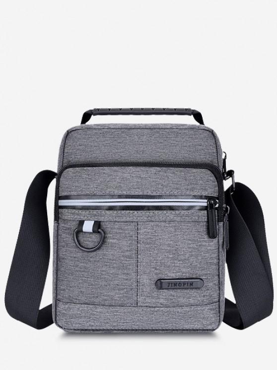 fancy Casual Business Zippers Shoulder Bag - GRAY