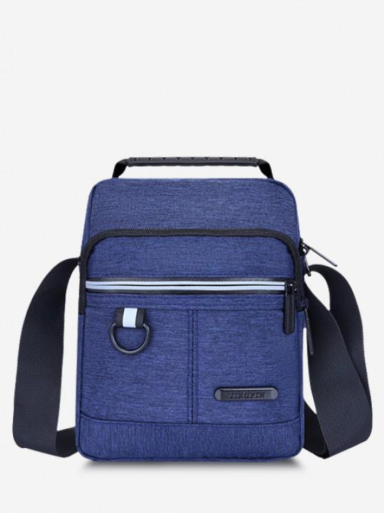unique Casual Business Zippers Shoulder Bag - BLUE