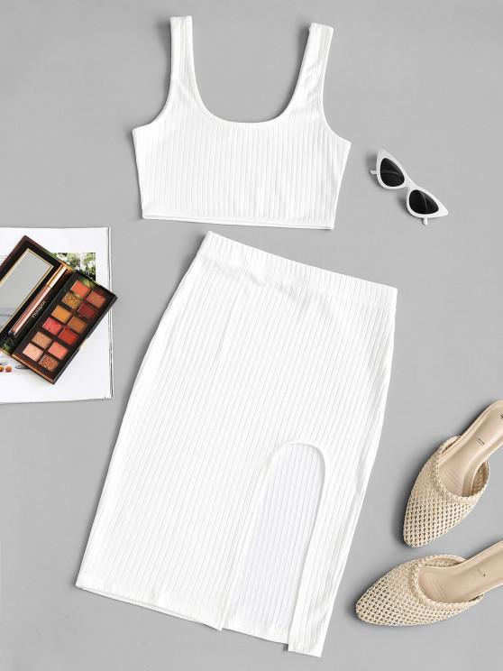 Vestido Barriga de Fora de Duas Peças - Branco M