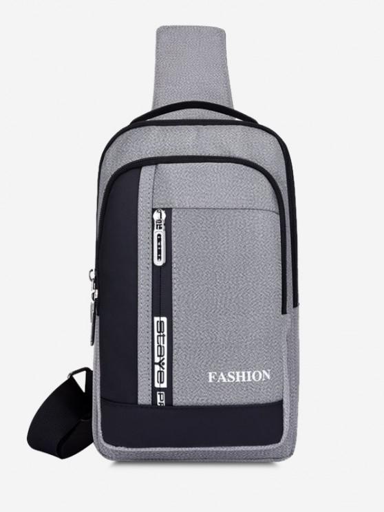 trendy Letters Print Multifunctional Chest Bag - LIGHT GRAY