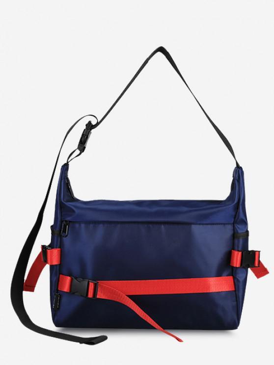 Leisure Release Buckle Messenger Bag - ازرق غامق