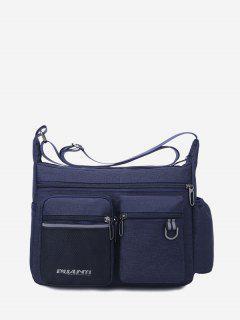 Pockets Waterproof Travel Shoulder Bag - Deep Blue