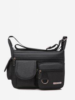Outdoor Business Pockets Shoulder Bag - Black