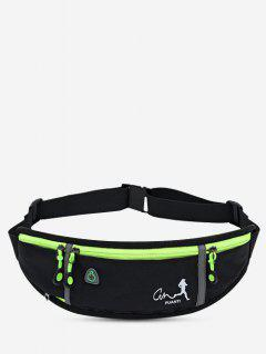 Running Waterproof Reflective Waist Bag - Black