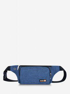Sports Mobile Phone Chest Waist Bag - Blue
