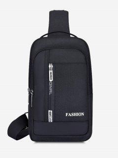 Letters Print Multifunctional Chest Bag - Black