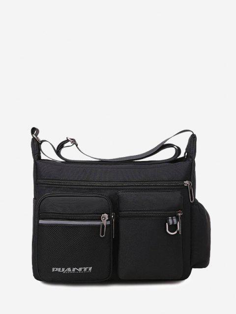 ポケット防水トラベルショルダーバッグ - ブラック  Mobile
