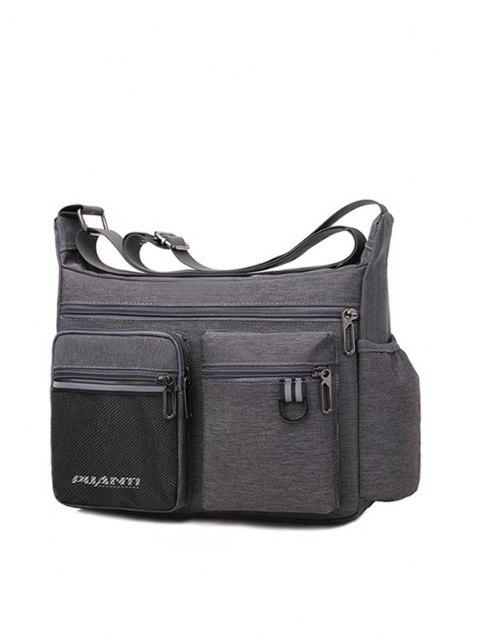 online Pockets Waterproof Travel Shoulder Bag - GRAY GOOSE  Mobile