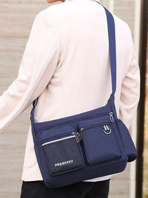 new Pockets Waterproof Travel Shoulder Bag - DEEP BLUE  Mobile