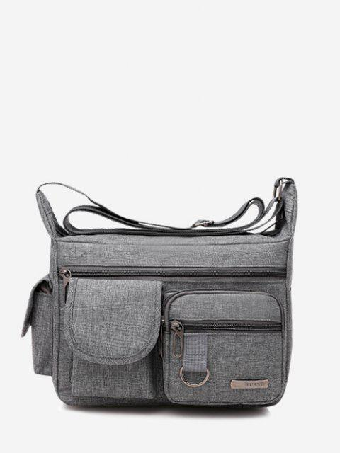 outfit Outdoor Business Pockets Shoulder Bag - GRAY GOOSE  Mobile