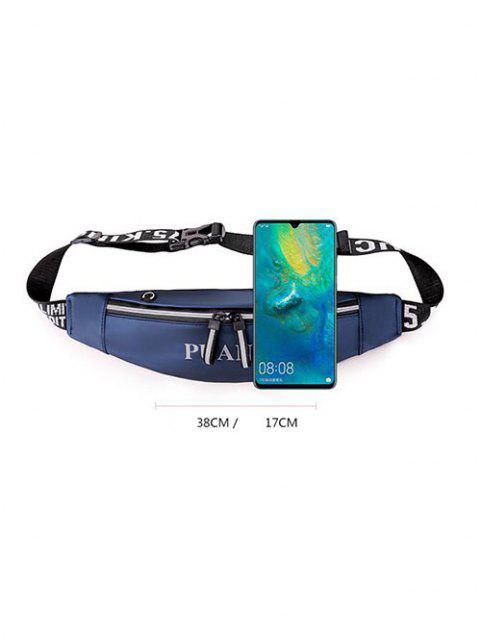 chic Letter Pattern Waterproof Cellphone Waist Bag - OCEAN BLUE  Mobile