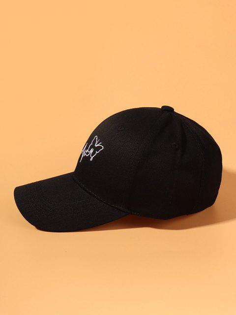 Chapéu de Beisebol Bordado de Borboleta - Preto  Mobile