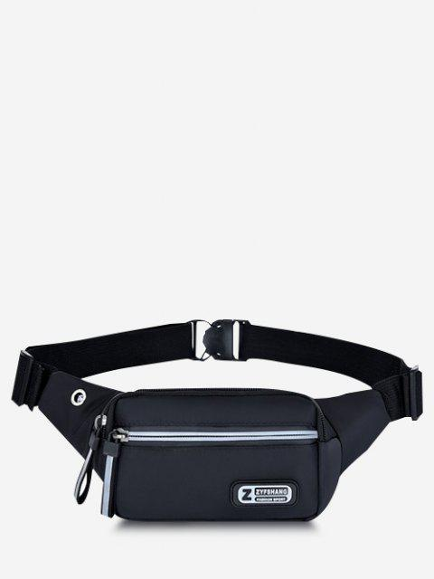trendy Waterproof Sports Chest Waist Bag - BLACK  Mobile