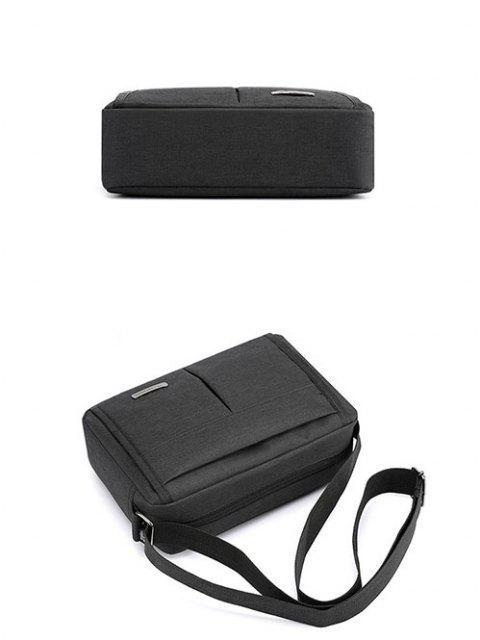 簡単な防水ショルダーバッグ - ブラック  Mobile
